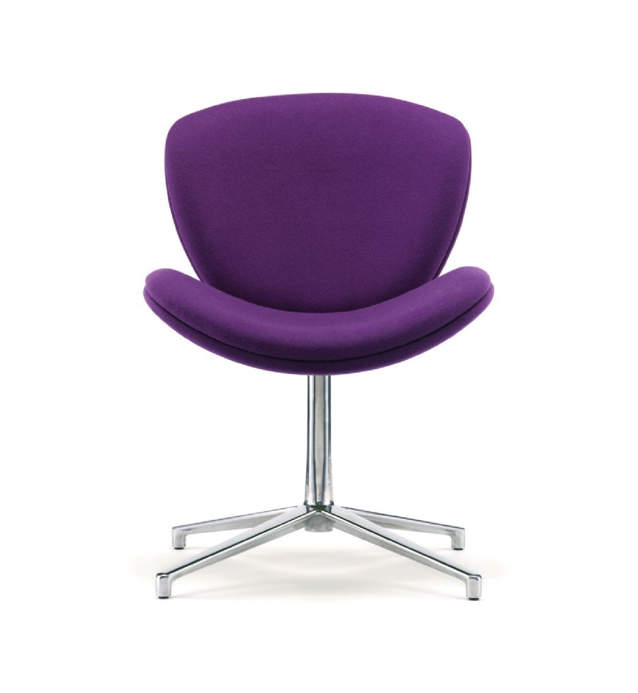 SLITE UPHOLSTERED VISITOR CHAIR ON SWIVE...